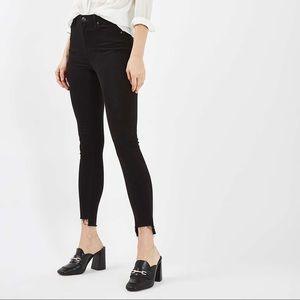 Black Stepped Hem Jamie Jeans 24 w 32 l